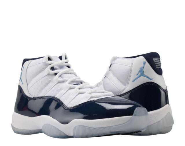 the best attitude 10b3d e0781 Nike Air Jordan 11 Retro Win Like 82 Wht Blue Men s Basketball Shoes 378037-