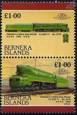 1942 PR Class T1 No.6110 4-4-4-4 Pennsylvania Railroad Train Stamps (Bernera)