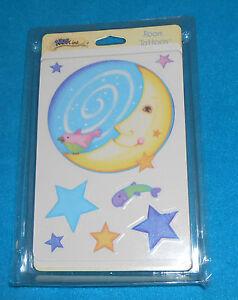 Kidsline Del Mar Wall Room Tattoos / Wall Stickers Moon & Stars - NEW in Pkg.