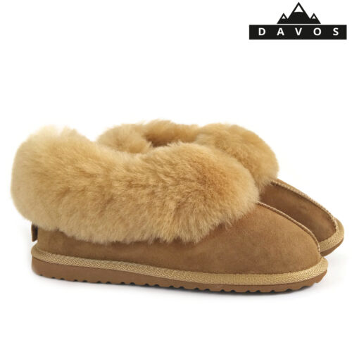 Womens Luxury Handmade 100/% Golden Real Sheepskin Suede Fur Slippers EVA Sole LV