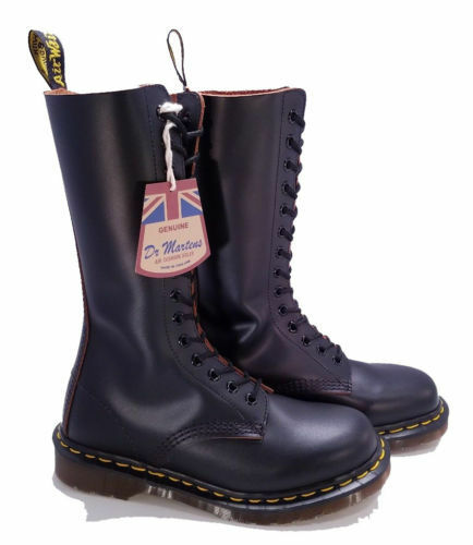 Dr. Martens Doc England MIE Vintage 14 Eye Black 1914 Boots UK 4 US 6