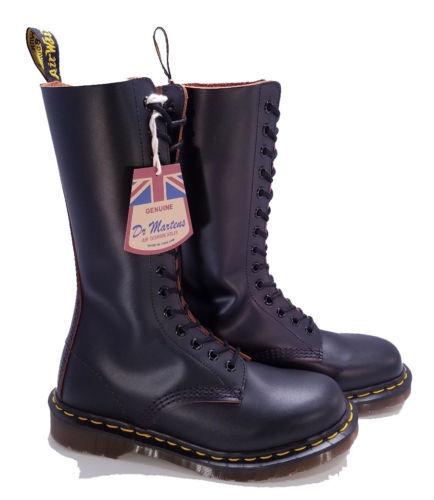 Dr. Martens Doc England MIE Vintage 14 Eye Black 1914 Boots UK 4 US 6