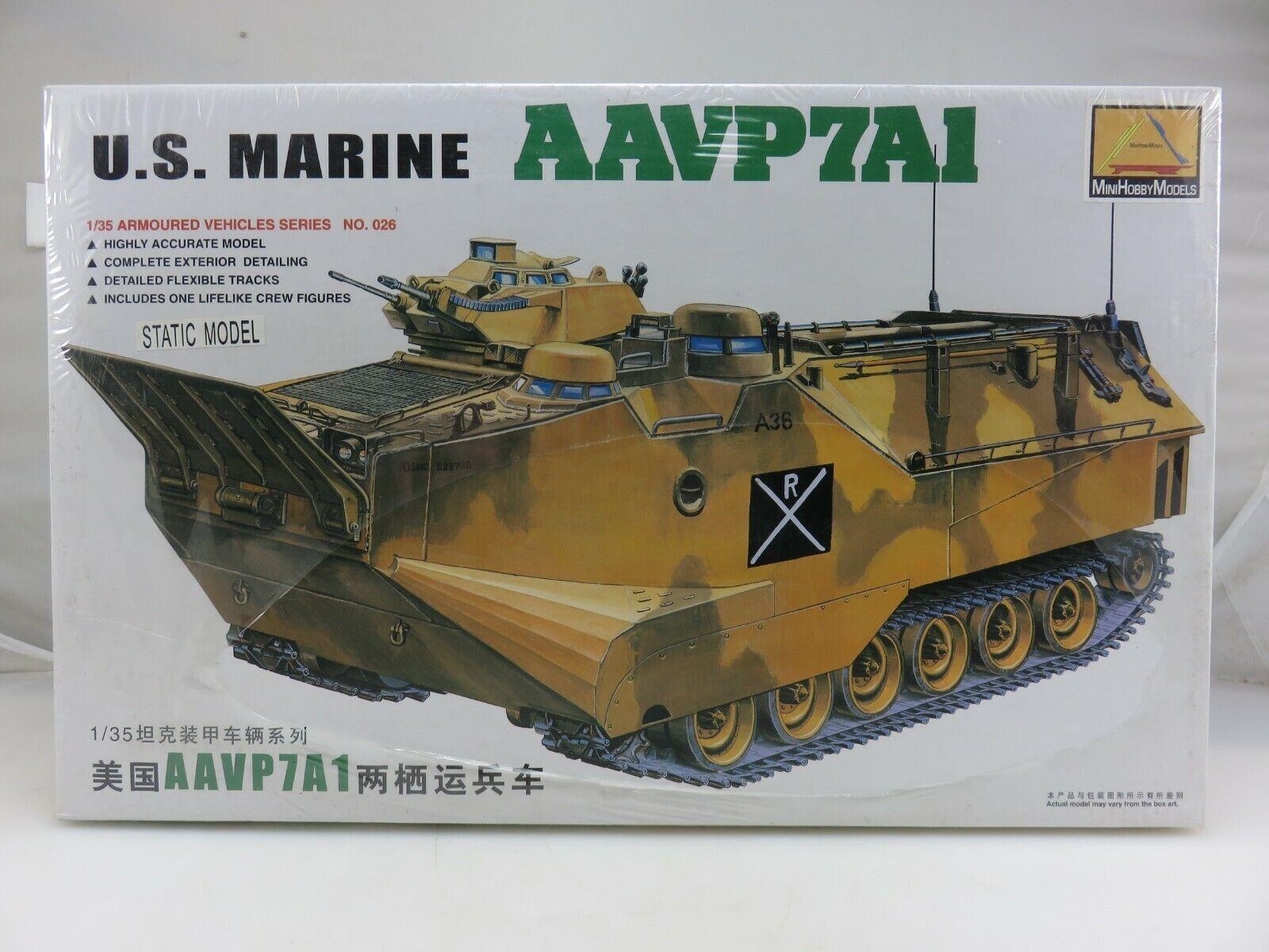 Mini Hobby US MARINE AAVP7A1 1 35 Scale Plastic Model Kit 80114 NEW Sealed