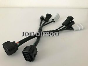 FOR 2016-18 Honda Civic Halogen to OEM Touring Type R LED headlight harness  | eBayeBay