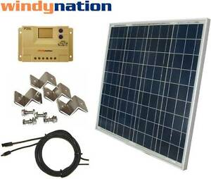 60 Watt 60w Pv Solar Panel Kit 12v W Lcd Controller Rv
