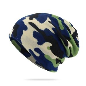 Men Winter Warm Visor Beanie Camo Cap Hat Knit Ski Hunting Army Military Hats