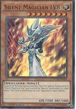 Yu-Gi-Oh tarjeta: Silent Magician LV8-Ultra Poco común-ygld-ENC04-primera edición