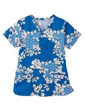 Blue Ming Bio Women/'s Scrub top Style 5071-3232 Sizes M-5X