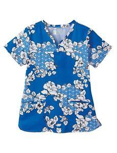 ee9c2ccc879 Bio Women's Style 5962-3223 Print Scrub Top Sizes M to 5X | eBay