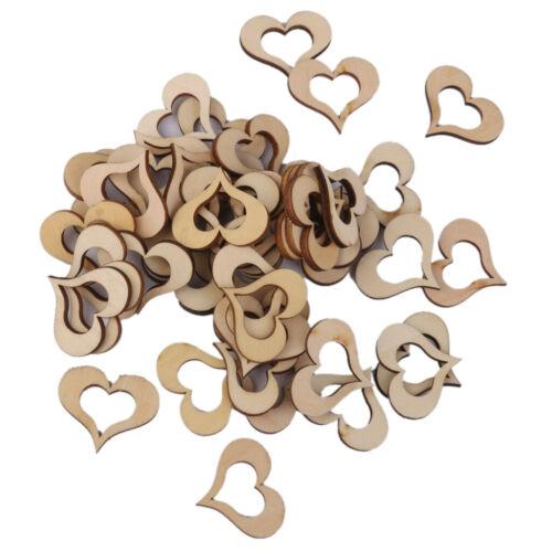 Die Kunstfertigkeit Blank Einfachen Holz Hohlen Liebe Herzen Hochzeit Karte