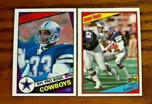 1984-TOPPS-TONY-DORSETT-238-and-239-COWBOYS