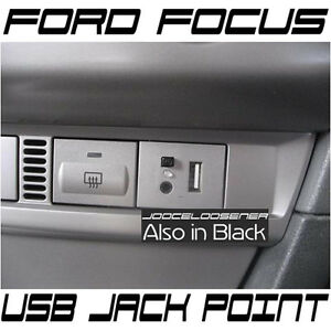 Ford-FOCUS-USB-Dash-Connection-Module-Point-Custom-MP3-3-5mm-Jack-SILVER