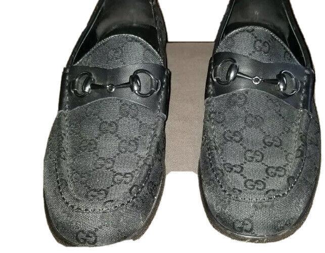 Gucci Loafers Vintage Mens Black Horsebit Classic… - image 2
