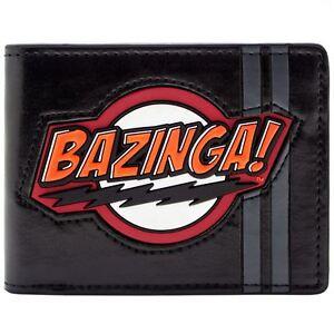 NEW-OFFICIAL-BIG-BANG-THEORY-SHELDON-BAZINGA-BLACK-ID-amp-CARD-BI-FOLD-WALLET