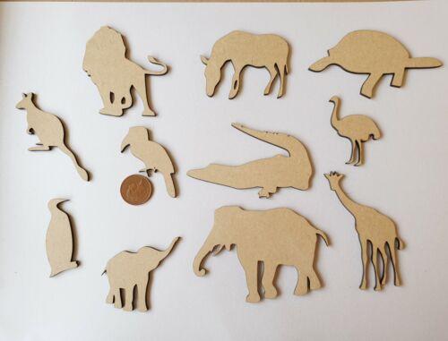 Elefant Giraffe Wwu Zebra Etc. Laserschnitt Holz MDF Zoo Tiere Sammlung