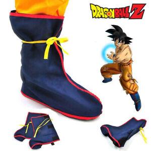 Detalles De Dragon Ball Z Goku Disfraz De Utilería Botas Zapatos Azul Para Hombre Vestir Traje De Anime Ver Título Original
