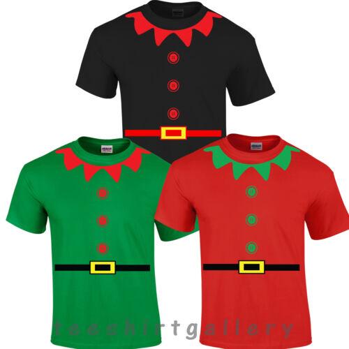 Natale Elfo Babbo Natale aiutante Babbo Natale Festa Divertente Costume Top