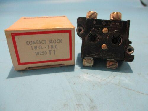 NEW CUTLER-HAMMER 10250T1 CONTACT BLOCK 1 N.O 1 N.C