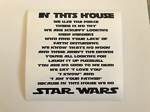 In This House We Do Star Wars Vinyl Box Frame Decal - Birkenhead, Merseyside, United Kingdom - In This House We Do Star Wars Vinyl Box Frame Decal - Birkenhead, Merseyside, United Kingdom