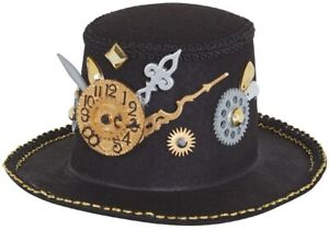 Adults-Steampunk-Victorian-Mad-Hatter-Mini-Hat-Fancy-Dress-Party-Costume-Outfit