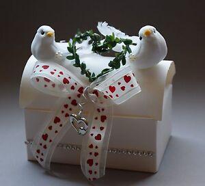 geschenkbox zur hochzeit tauben hochzeitsgeschenk geldgeschenk geld herz ebay. Black Bedroom Furniture Sets. Home Design Ideas