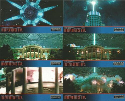 Independence Day Full 72 Card WideVision Base Card Set from Topps ID4