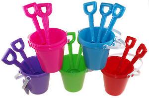 Beach-Buckets-And-Spades-Rainbow-Of-Colours-Whole-Sale-Bulk-Buy-Quantities