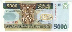 COSTA-RICA-5000-colones-2005-p-268Ab-UNC