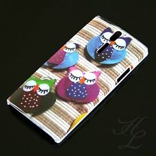 Sony Ericsson LT26i Xperia S Hard Case Hülle Schlaf Eule Bunt Etui Cover Owl