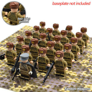 Word War 2 Military Soldiers Minifigures Lego USA Soviet Germany Army Kids Toy