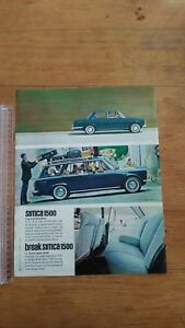 PUBLICITE-ANCIENNE-PUB-ADVERT-SIMCA-1500-BREAK-PARIS-MATCH-1965