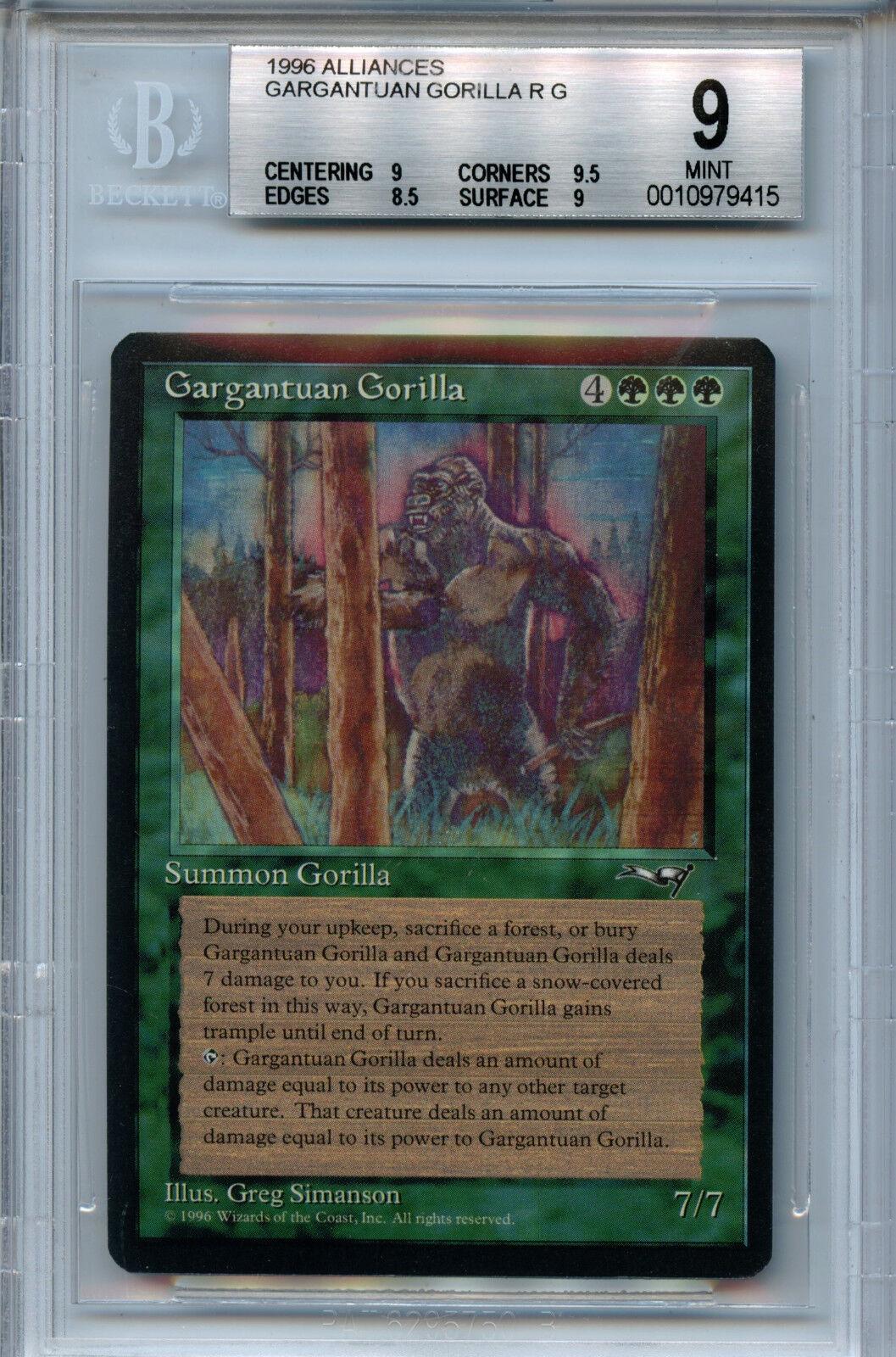 Mtg gorilas BGS 9.0 (9) menta Union Magic CocheDS amricons 9415
