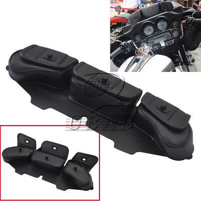 Windshield Bag Saddle 3 Pouch Pocket Fairing For Harley Touring FLHT FLHTC FLHX