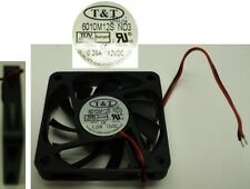 "2.3""*.39""inch/60mm*10mm T&T 6010M12S-ND3 12VDC/12V/9V Fan 2wire 6.5"" tinned 6010"