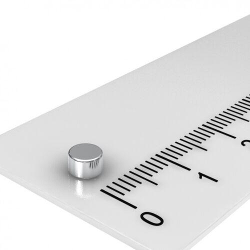 4x2.5 mm HOCHTEMPERATUR SUPERMAGNET 250x NEODYM MAGNET SCHEIBE N35H BIS 120°C