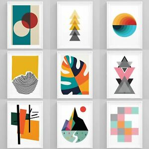 Estampados geométricos Pared Arte Enmarcado abstracta moderna Decoración Pared Casa de Imagen Obra De Arte