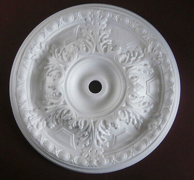 "Ceiling Rose Large Size 490mm (19"") 'Claremount' Polystyrene Rose Easy To Apply"