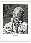 Ex-libris Sérigraphie TED BENOIT Blake Mortimer Jimmy Tcheng 17,5x24