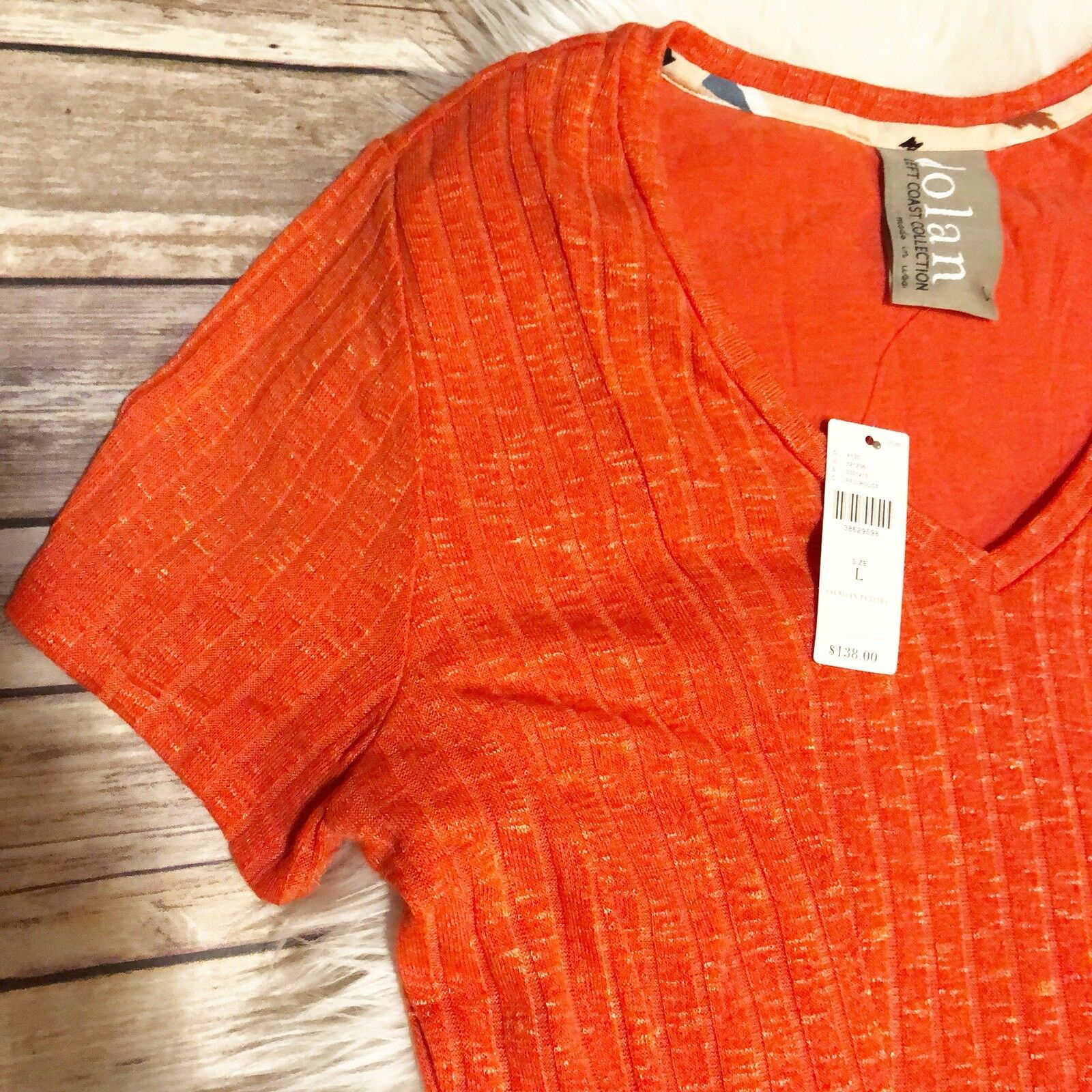 Anthgoldpologie DOLAN orange Elbow Sleeve Flare Flare Flare Knit Dress Size L 5e5143