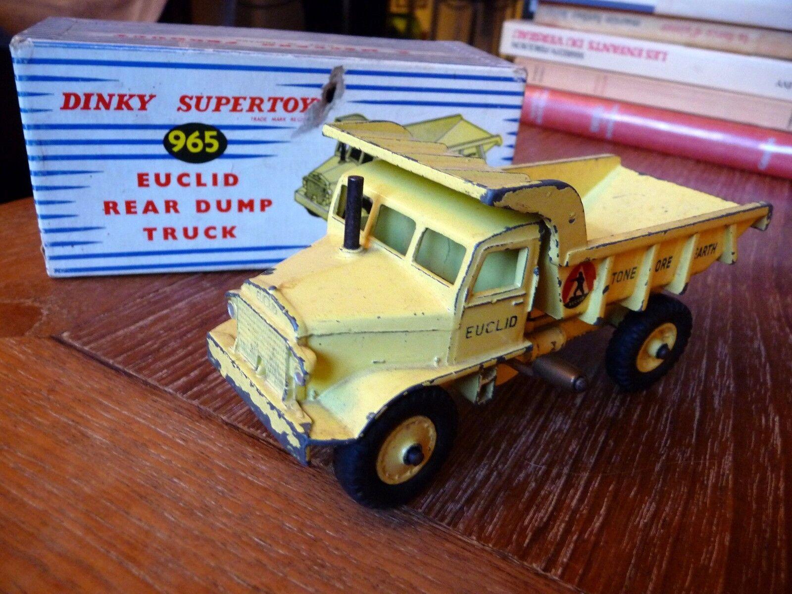 DINKY TOYS EUCLID REAR DUMP TRUCK SUPERTOYS 1 50 Ref 965 avec BOITE