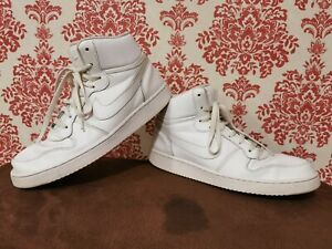 Men's Nike ebernon Mid Sneaker High Top Sneaker AQ1773-100 Chaussures Blanc UK8