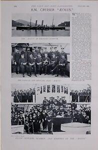 1897-BOER-WAR-H-M-CRUISER-AEOLUS-CAPTAIN-OFFICERS-SEAMEN-MARINES-IN-NAGASAKI