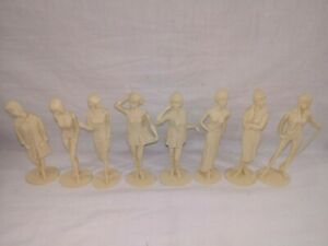 1964-Louis-Marx-CAMPUS-CUTIES-8-piece-set-Plastic-Figurines-BEAUTIFUL-NEAR-MINT