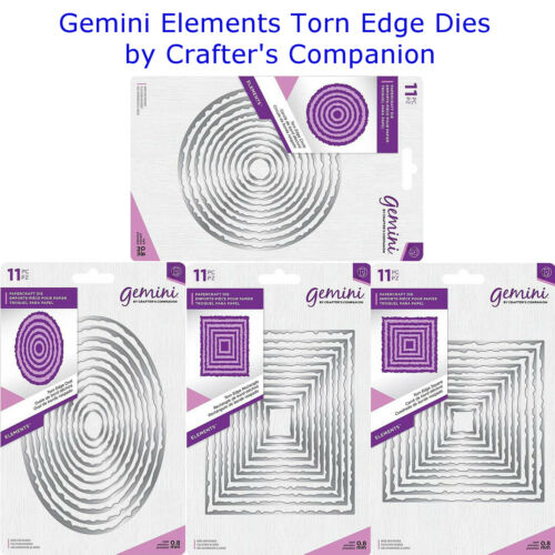 Your Choice Gemini Elements Torn Edge Nesting Dies by Crafter/'s Companion