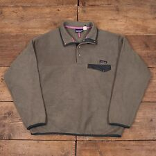 "Mens Vintage Patagonia Snap T Fleece Green Sweatshirt Jacket M 40"" R5309"