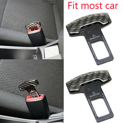 Carbon Fiber Safety Seat Belt Buckle Alarm Eliminator Clip Fix Error Code