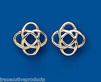 Celtic Earrings Gold Celtic Studs Yellow Gold Celtic Stud Earrings 11mm