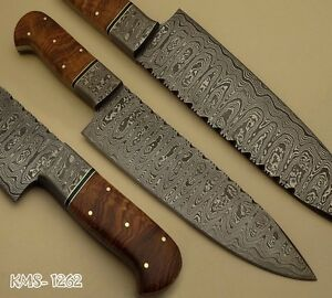 beautiful hand made damascus steel hunting kitchen chef knife by knife maker ebay. Black Bedroom Furniture Sets. Home Design Ideas