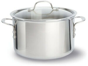 Calphalon Tri Ply Stainless Steel 5 Qt Covered Saute Pan Grey