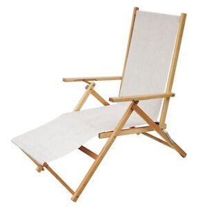 Sdraio da esterno giardino in legno pieghevole relax sedia mare ...